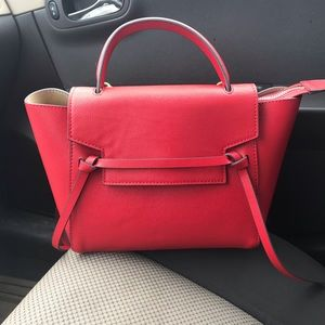 Red Leather Satchel!